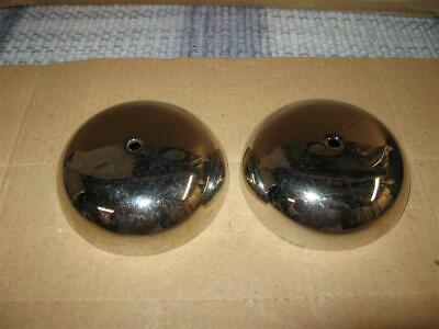 Western Electric Crank Telephone Nickel Brass 3 Inch Ringer Bells 26B Original
