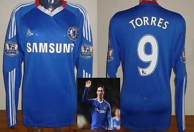 Chelsea home football shirt F.TORRES Long sleeved Atletico Madrid L Adidas