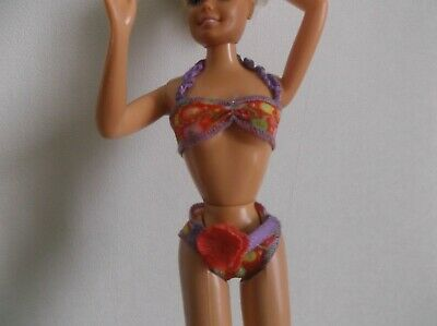 VINTAGE VETEMENT MAILLOT De Bain Poupee Doll Barbie