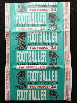 A&BC 1964 Scottish & English 2d Footballer Bubble Gum Card Wax Wrapper-Very Good