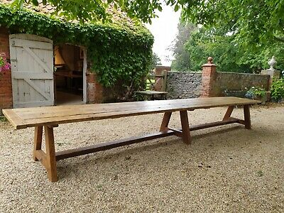 Large Refectory Period Dining Table 6m Long, Seats 24 with Comfort