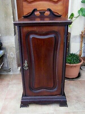 Antique Art Nouveau Carved Mahogany Ornate Shelved Cabinet/Cupboard-circa 1900