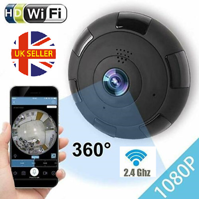 New 1080P HD 2.0MP Home Security 360 Degree Panoramic Camera IP Fish eye WiFi UK