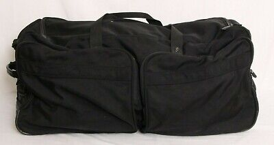 "Briggs & Riley Black 30"" Baseline Rolling Wheeled Duffle Bag Travel Luggage"