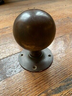 Huge Antique Bronze Door Knobs Handle Architectural Vintage Old Victorian Church