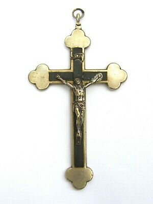 Antique-French Large Silver Plated Cross Pendant With Corpus-circa 1900