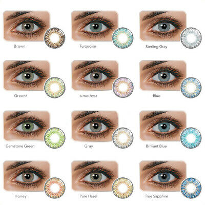 1 Pair Colored Cosmetic Contact Lenses 0 Degree Yearly Use Makeup Eyewear Bell