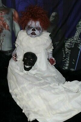 """Reborn Horror 22"""" vampire baby Doll Haunted Prop Ghost Ouja zombie  Pennywise"""