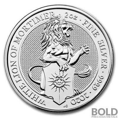 2020 Silver Great Britain Queen's Beasts (The White Lion) - 2 oz