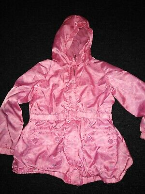 Girls Pink Waterproof Coat 3-4 Years Marks And Spencer