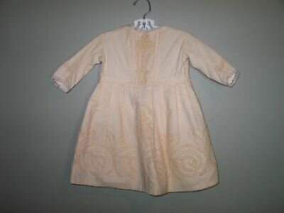 Adorable Antique Childrens Wool Coat Jacket~Edwardian Victorian-Embroidery-Lace