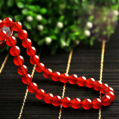 1pcs 4-14mm Red Agate Round Beads Loose Bead 15 inches Spacer Diy Opaque Strand