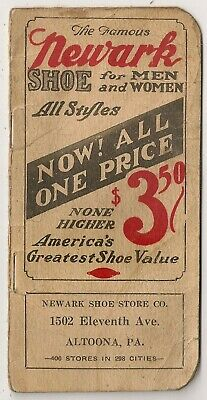 Newark Shoe Store Co., Altoona PA Advertising Notebook