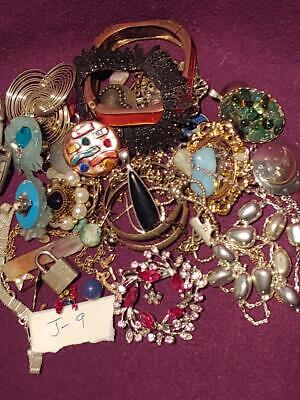 #J9- VINTAGE JUNK DRAWER LOT antique Jewelry untested estate find watch lock key