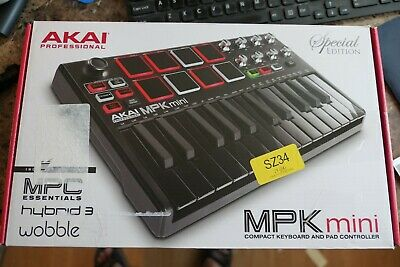 NEW Akai MPK Mini MKII Keyboard Controller Special Edition - Black on Black