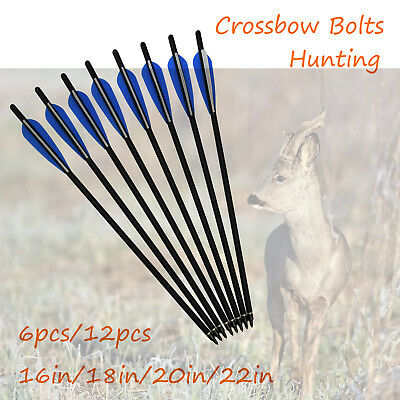New 16-22 inch Crossbow Bolts Carbon Arrows Archery Bow Outdoor Target Hunting