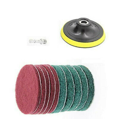 11 Pcs Drill Brush Power Scrubber Scouring Scrub Pad Bathroom Tile Cleaning Kit