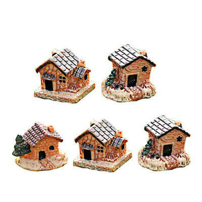 Ornament Figurines & Miniatures Mini Small House Micro Landscape Moss Cottages
