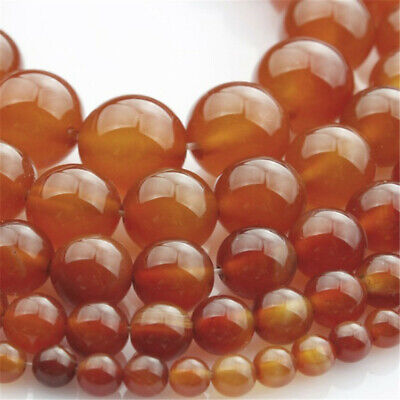 Natural Red Agate Loose Beads Making Jewelry 15 inches Charm Diy Gemstone Spacer