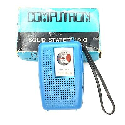 Computron Solid State AM Transistor Radio Model 2601 Tested Works Great Vintage