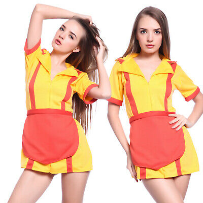 Carnevale Cosplay Costume Donna Travestimento da Serie TV 2 Broke Girls
