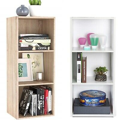 3 Tiers Bookcase Storage Unit Free Standing Home/Office Display Cubes Cabinet