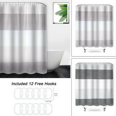 1.8m 100/% Polyester Shower Curtain 1.8mx 2m White 100/% Bathroom Accessories