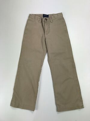 Boys Polo Ralph Lauren Beige Sand Straight Leg Chino Trousers Casual Size 4/4T
