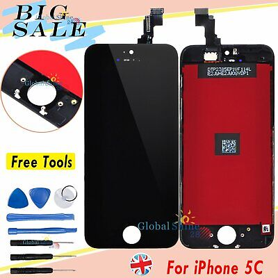 Black Display For Apple iPhone 5C LCD Touch Screen Digitizer Assembly + Frame UK
