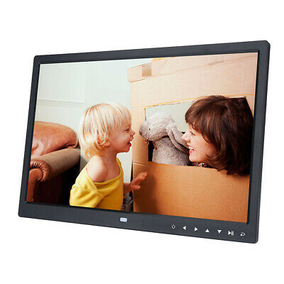 "15"" Digitaler Bilderrahmen Fotorahmen TFT LED MP3 MP4 Video Player Schwarz ABS"