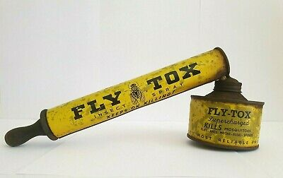 FLY TOX SPRAYER, Fly Tox Tin, FLY TOX insect sprayer, Suits Mortein, collector