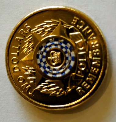 Rare Police 2019 $2 Coin Uncirculated Collectable, one coin only.