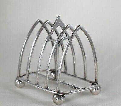 Antique Victorian Christopher Dresser Style Silver Plated Toast Rack