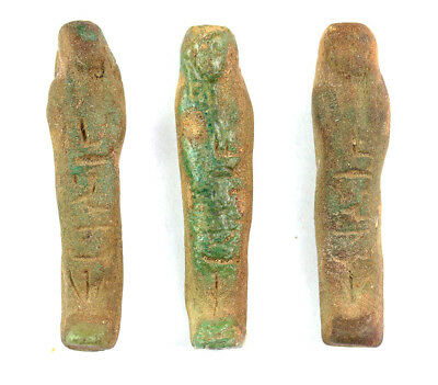*Sc*3 Nice Egyptian Faiance Ushabtis, Ushabti, Shabti From The Late Period!