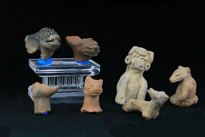 *Sc*A Nice Collection Of Pre Columbian Animal Pottery Figures!