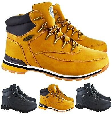 Mens Gents Ankle Hiking Walking Grip Sole Snow Lace Up Trainers Boots Size 6-11
