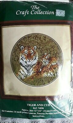 The Craft Collection Tapestry Kit - Tiger And Cub