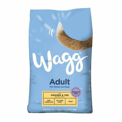 Wagg Adult Complete Dry Dog Food - Chicken & Veg - 12kg