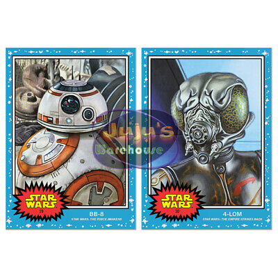 Topps Star Wars Living Set 2-Card Bundle #29-30 BB-8 & 4-LOM (Pre-sale)