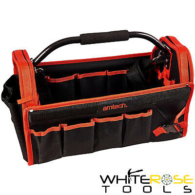 Amtech Tool Caddy Holdall Storage Bag 450mm Hard Base Tote Carry Case