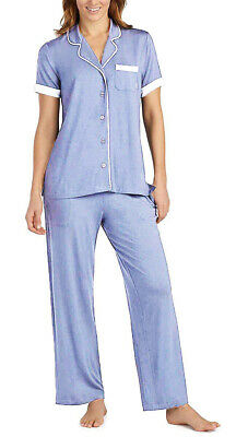 DKNY Womens 2-piece Pajama Set Light Blue XXL Great Gift Free Fast Shipping
