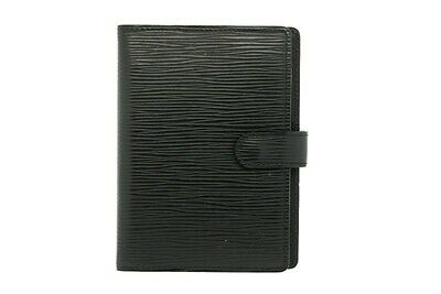 LOUIS VUITTON Wallet Organizer Agenda Notepad BLACK Epi Leather Small Cover $465