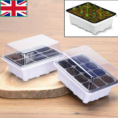 12 Cells Seed Tray Seedling Starter Trays Plant Grow Starting Germination Trays