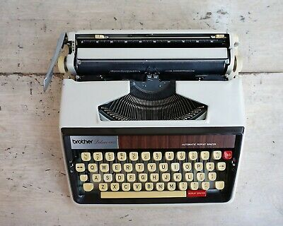 MCM Office Typewriter, Brother Deluxe 1350 Typewriter with Case