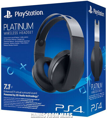 SONY PLAYSTATION PLATINUM WIRELESS HEADSET 7.1 Cuffie Gaming PS4 NUOVO