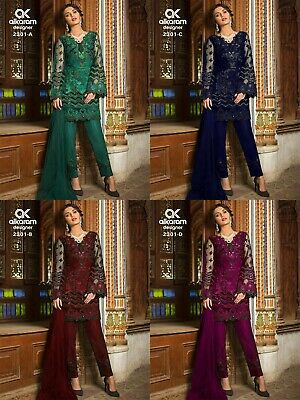 Pakistani Salwar Kameez Top Anarkali Dress Bollywood Shalwar Embroidery suit