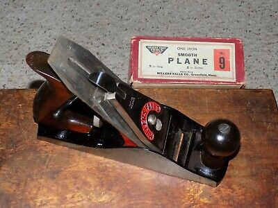 Vintage Millers Falls No. 9 Smooth Plane With Original Box