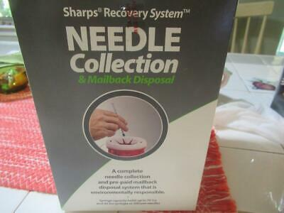 Sharps Recovery System Needle Collection & Mailback Disposal Sealed Box