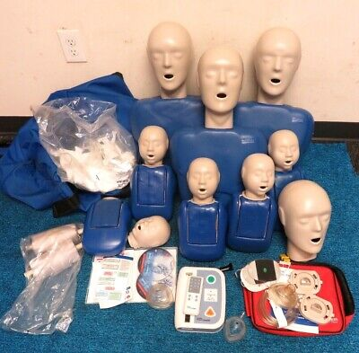 CPR Prompt® 8 Packs: 3-Adult/Child & 5-Infant with AED Practi-Trainer &accessary