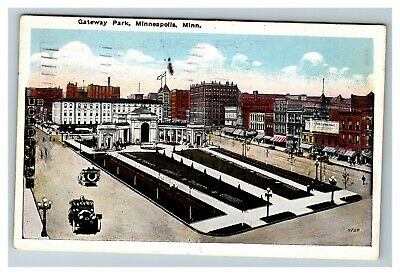 Vintage View of Gateway Park, Minneapolis MN c1923 Postcard F14